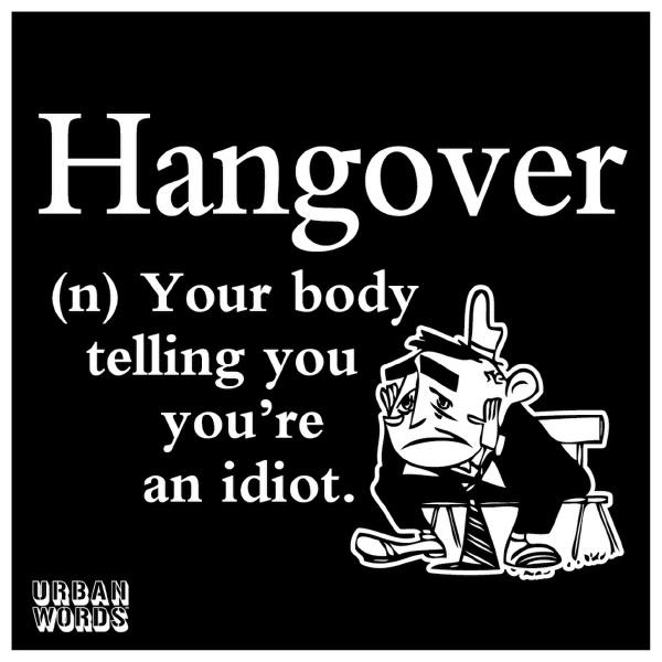urban words hangover